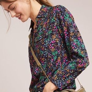 Anthropologie Maeve Floral Top
